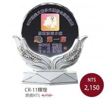 CR-11 彩印水晶獎盃