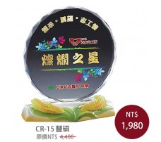 CR-15 彩印水晶獎盃