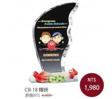 CR-18 彩印水晶獎盃