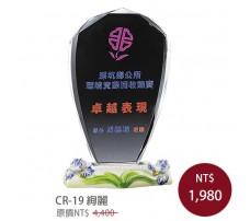 CR-19 彩印水晶獎盃