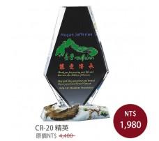 CR-20 彩印水晶獎盃