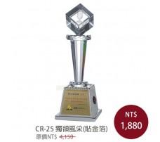CR-25 水晶獎盃(貼金箔)