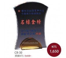 CR-30 彩印水晶獎盃