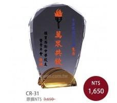 CR-31 彩印水晶獎盃