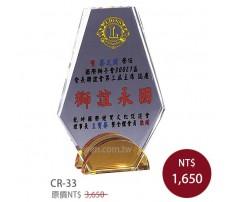 CR-33 彩印水晶獎盃
