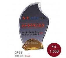 CR-35 彩印水晶獎盃