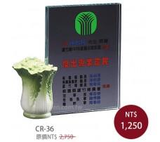 CR-36 彩印水晶獎盃