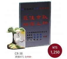 CR-38 彩印水晶獎盃