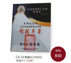 CR-54 彩印獎牌-直式