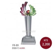 FR-89 琉璃水晶 旭日東昇-紅