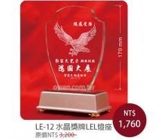 LE-12 水晶內雕獎牌