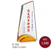 SJ-166水晶獎牌