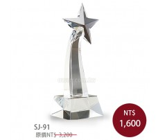 SJ-91水晶獎座