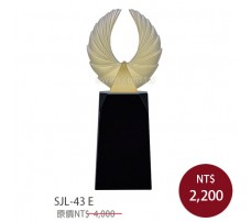 SJL-43E 黑水晶琉璃獎座