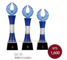 QC35水晶琉璃獎牌