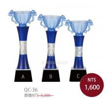 QC36水晶琉璃獎牌