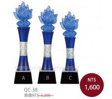 QC38水晶琉璃獎牌