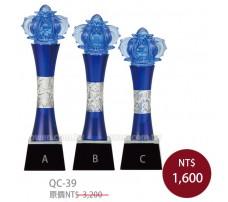 QC39水晶琉璃獎牌 勝利之冠