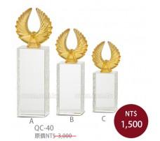 QC40水晶琉璃獎牌-直式(夢想)