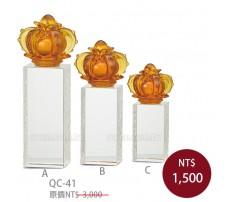 QC41水晶琉璃獎牌 勝利之冠