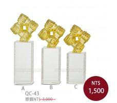 QC43水晶琉璃獎牌-直式