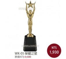WK-05金屬獎盃 榮耀之星
